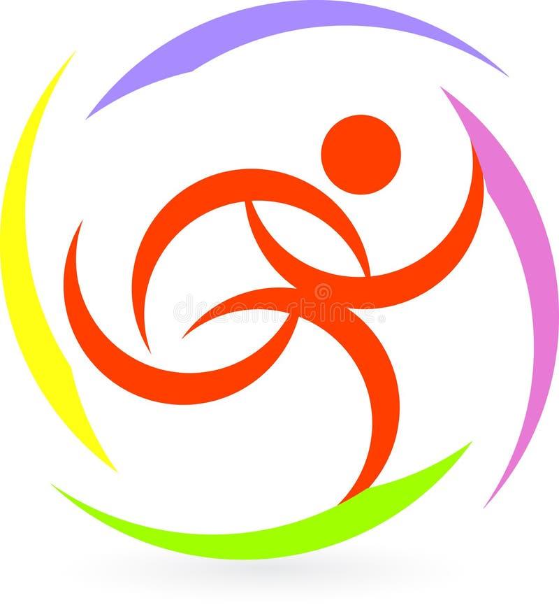Активный людской логос иллюстрация вектора