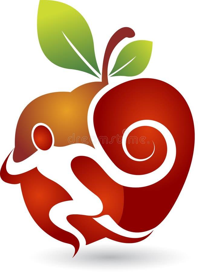 активный логос яблока иллюстрация вектора