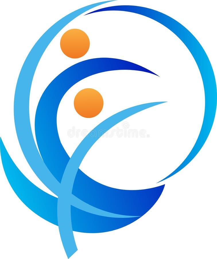 Активный логотип людей бесплатная иллюстрация
