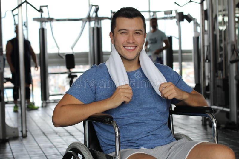 Активный человек с инвалидностью стоковое изображение