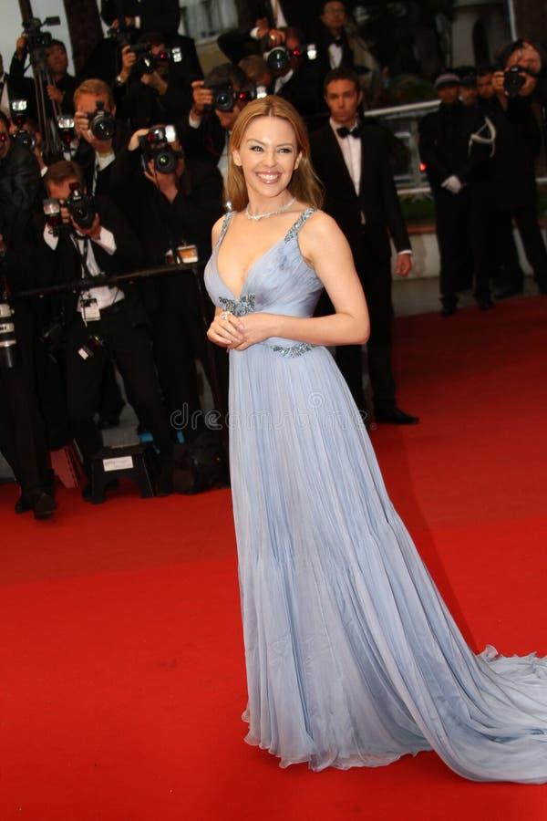 Актриса и певица Kylie Minogue стоковые изображения rf
