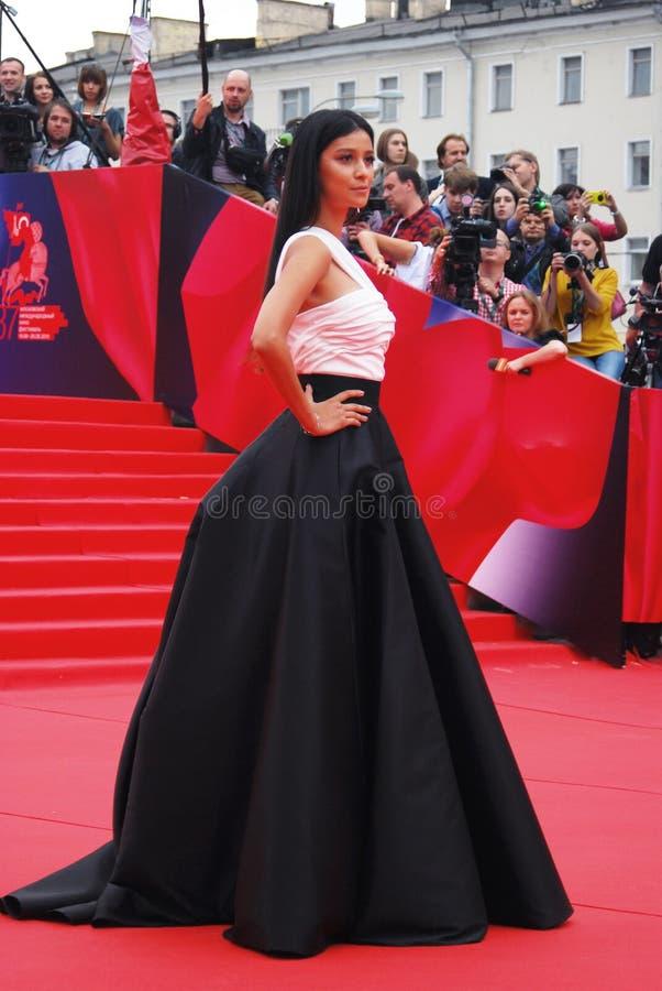 Актриса Ravshana Kurkova на фестивале фильмов Москвы стоковое фото