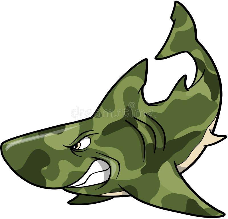 акула камуфлирования иллюстрация вектора