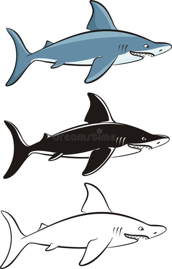 Акула - опасная рыба иллюстрация штока