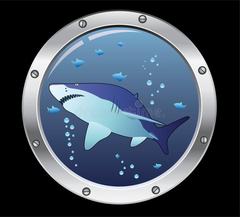 акула porthole бесплатная иллюстрация
