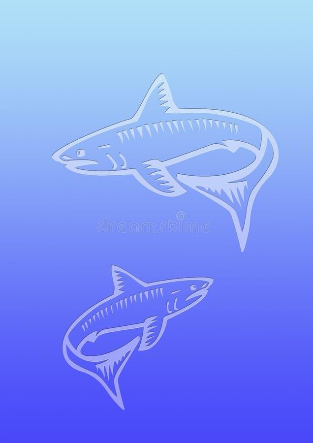акулы предпосылки бесплатная иллюстрация