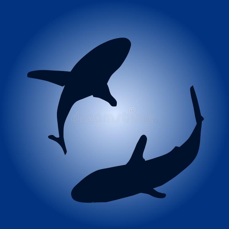 акулы иллюстрация вектора