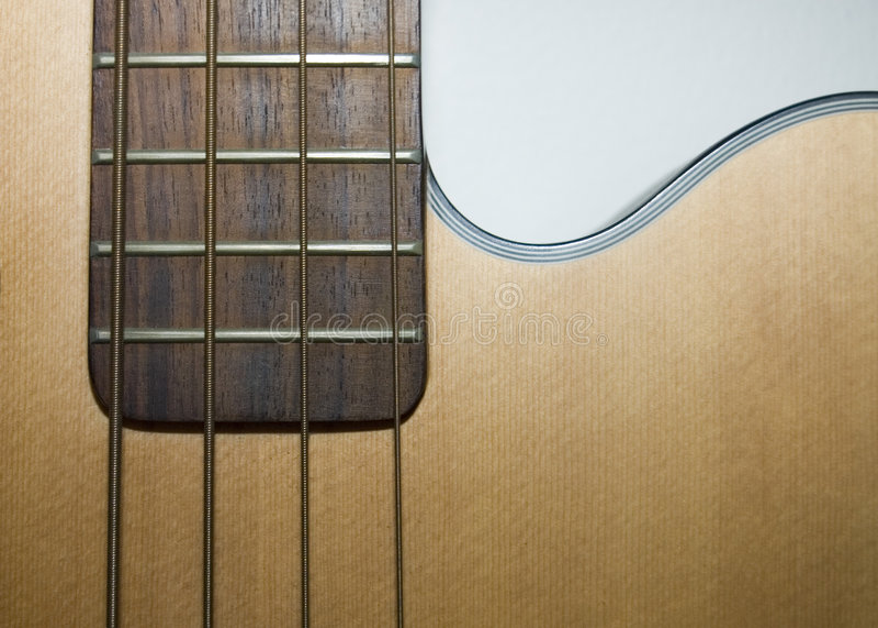 акустическая басовая гитара стоковое фото rf