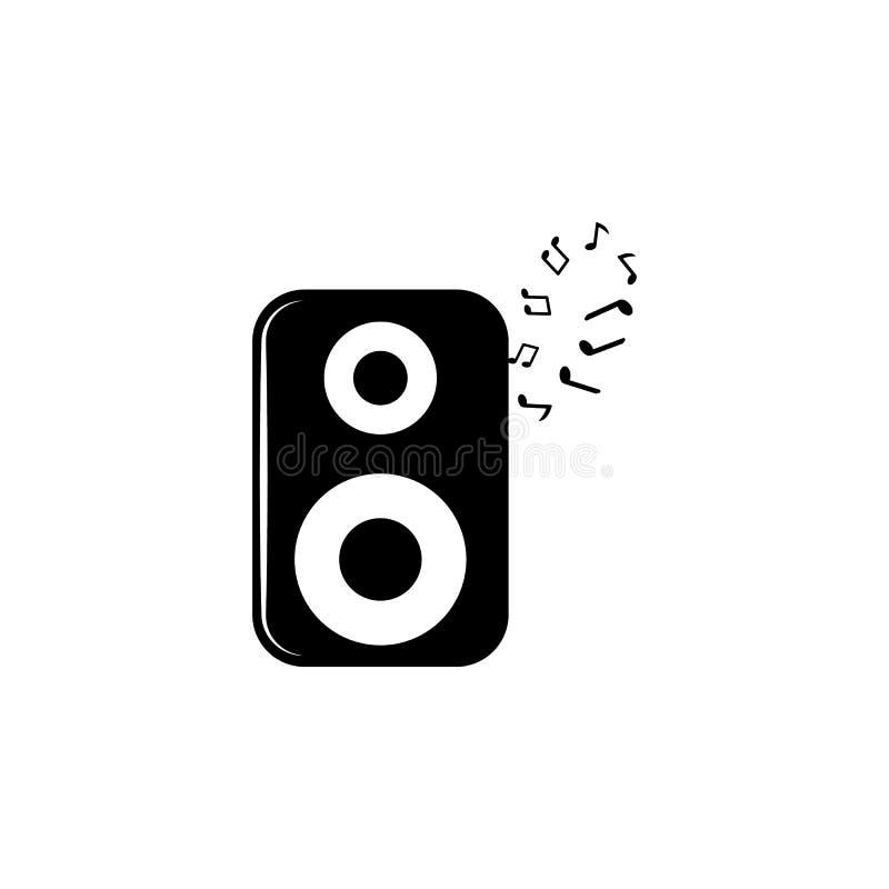 акустический значок столбца и примечаний Элемент значка музыки Наградной качественный значок графического дизайна Знаки и значок  иллюстрация штока