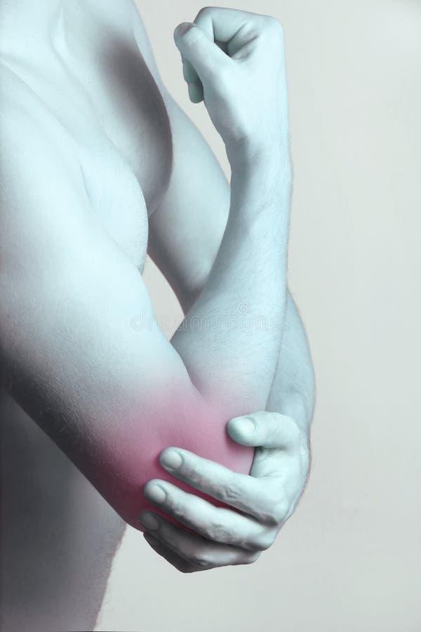 акутовая боль локтя стоковое изображение
