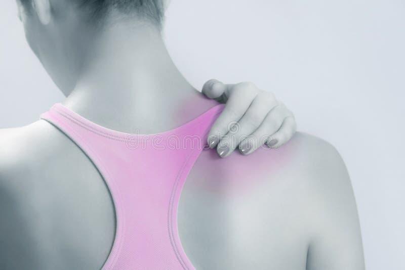 акутовая боль шеи стоковые изображения