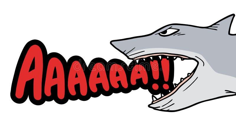 Акула выкрика иллюстрация вектора