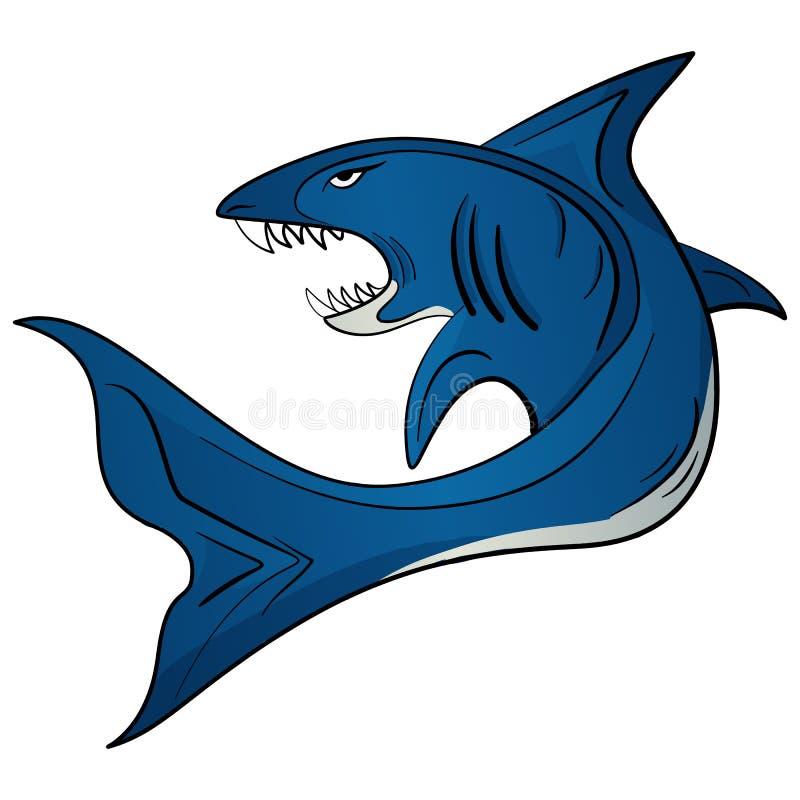 Акула иллюстрации вектора зубастая белая иллюстрация штока