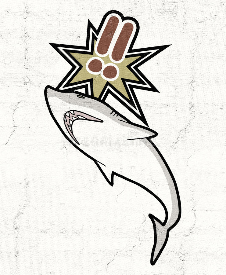 Акула опасности иллюстрация штока