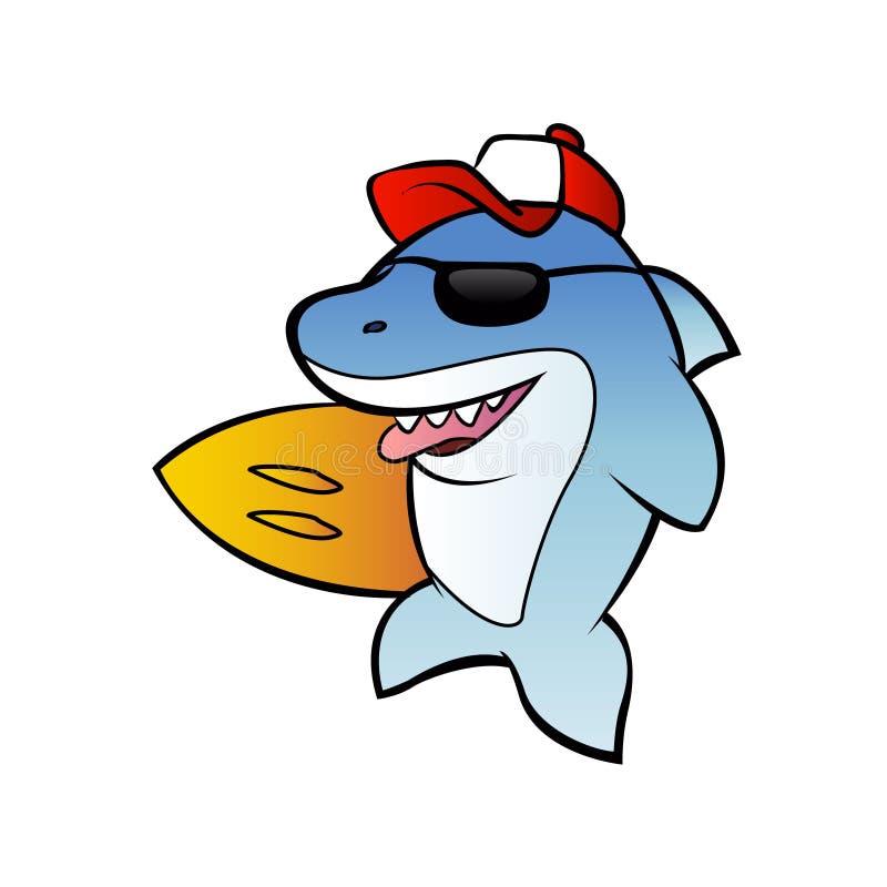 Акула серфера акулы иллюстрация штока