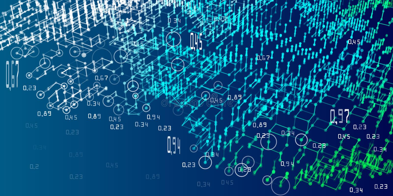 алгоритмы анализа диаграммы 3d Абстрактная предпосылка infographics анализа Большие данные также вектор иллюстрации притяжки core иллюстрация штока