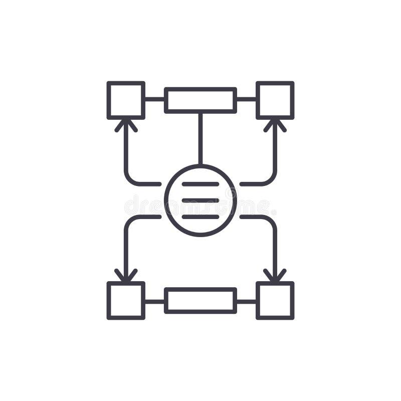 Алгоритм решений выравнивает концепцию значка Алгоритм иллюстрации вектора решений линейной, символа, знака бесплатная иллюстрация