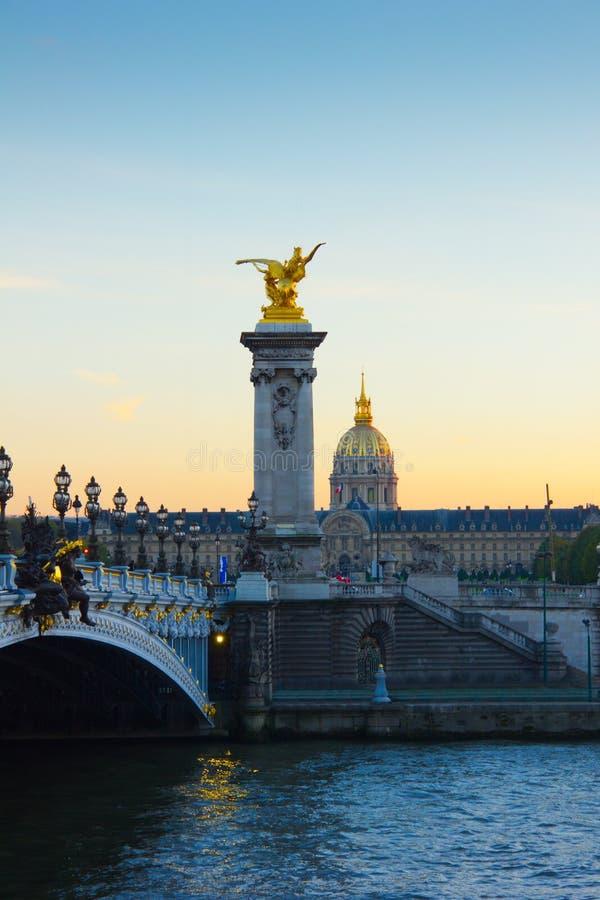 Александр третий мост, Париж стоковая фотография rf