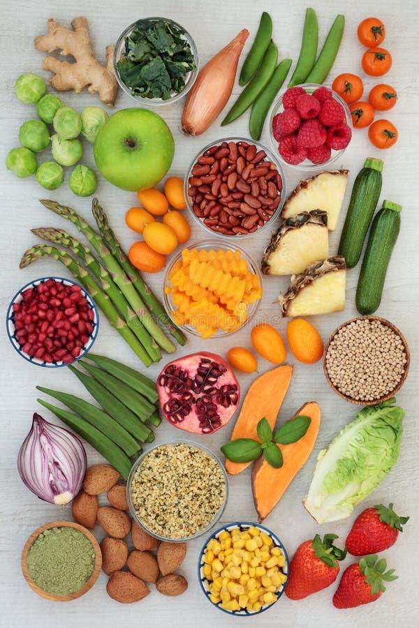 Алкалический выбор здоровой еды стоковые фото