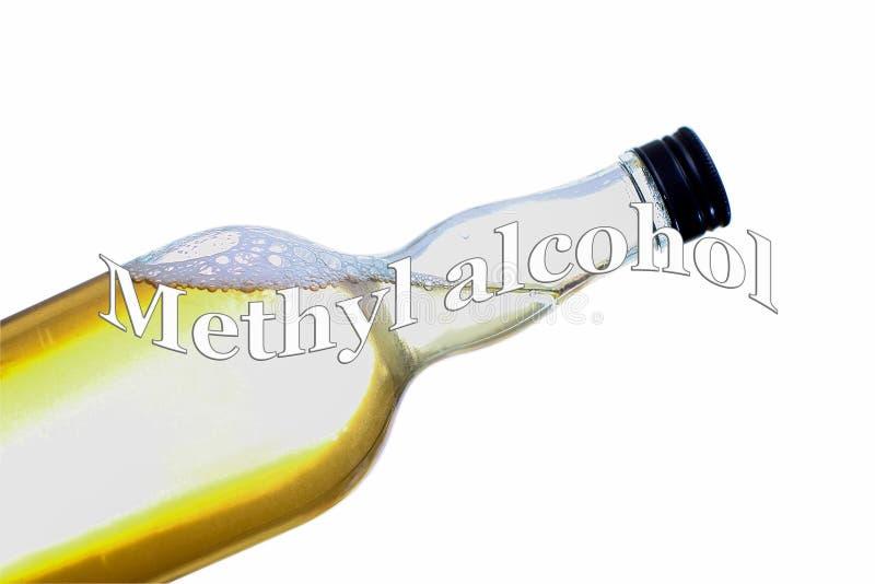 Алкоголизм - социальная проблема - метиловый спирт стоковое изображение