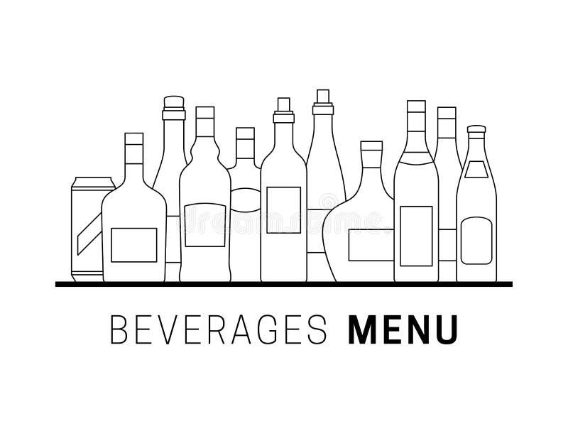 алкогольные напитки бесплатная иллюстрация