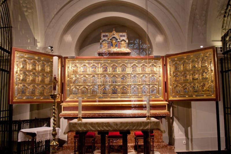Алтар Вердена в часовне St Leopold в монастыре Клостернойбурга, Австрии стоковые фото