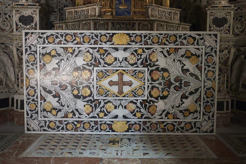 Алтар часовни святой святых стоковые изображения
