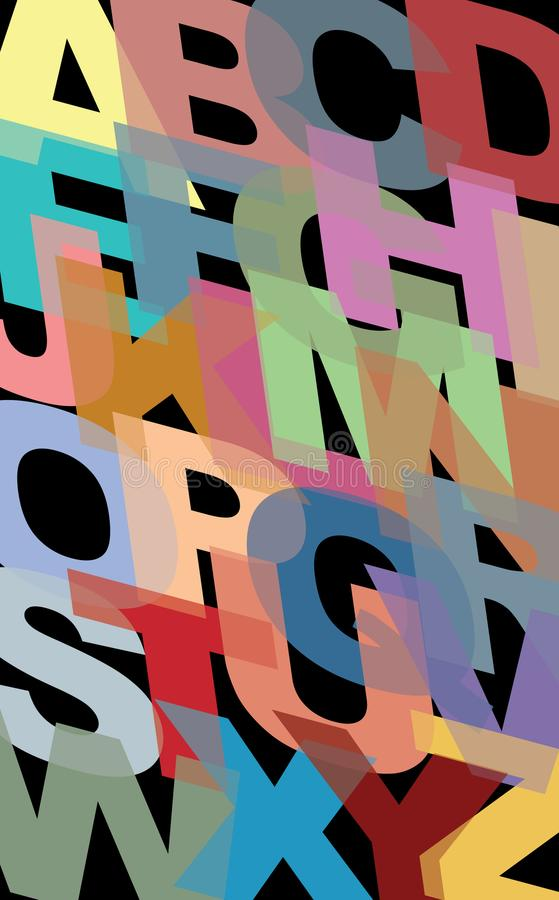 Алфавитная картина, состоя все главным образом характеры в ABC иллюстрация штока
