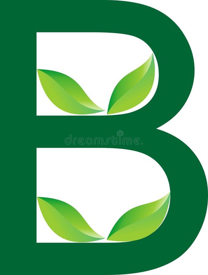 Алфавитный дизайн логотипа зеленого цвета для травяной компании продукта и для дела питомника завода бесплатная иллюстрация