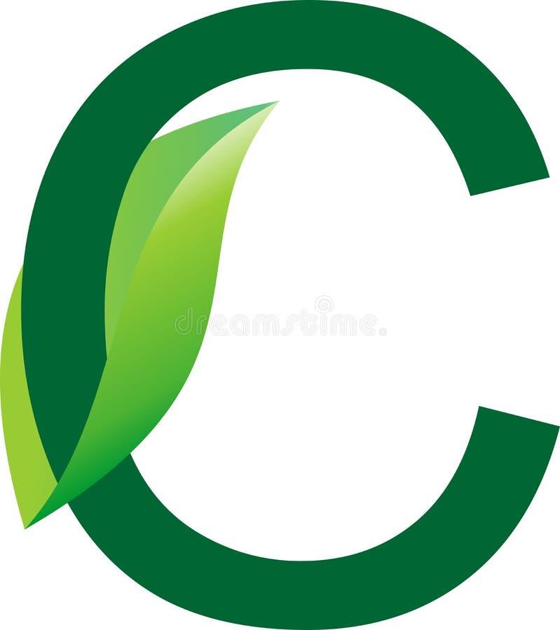Алфавитный дизайн логотипа зеленого цвета для травяной компании продукта и для дела питомника завода иллюстрация вектора
