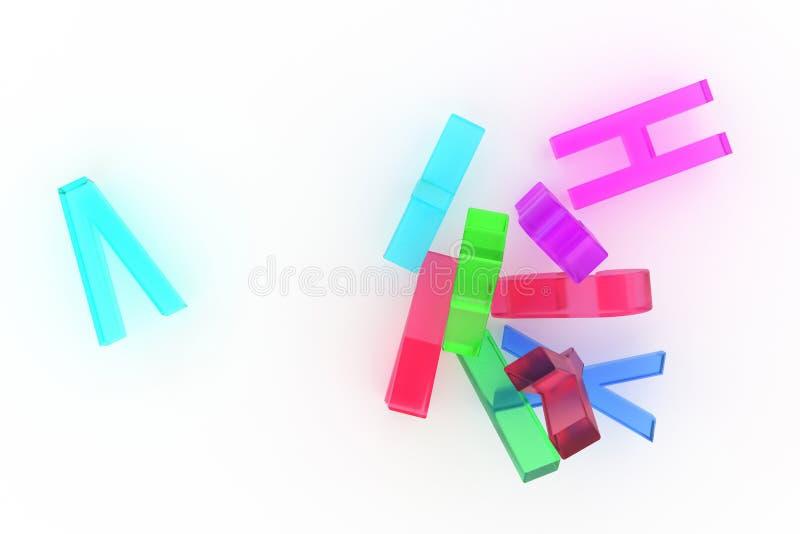 Алфавитный знак для письма ABC Хороший для графического дизайна или предпосылки Резюмируйте, красочный, иллюстрация & выучите иллюстрация штока