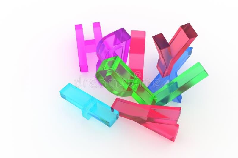 Алфавитный знак для письма ABC Хороший для графического дизайна или предпосылки Беспорядок, стиль, цифровой & красочный иллюстрация штока