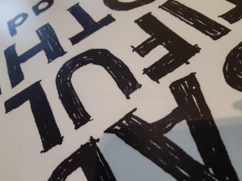 Алфавитный конспект предпосылки стоковые изображения