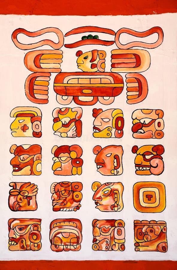 алфавиты майяские стоковое фото
