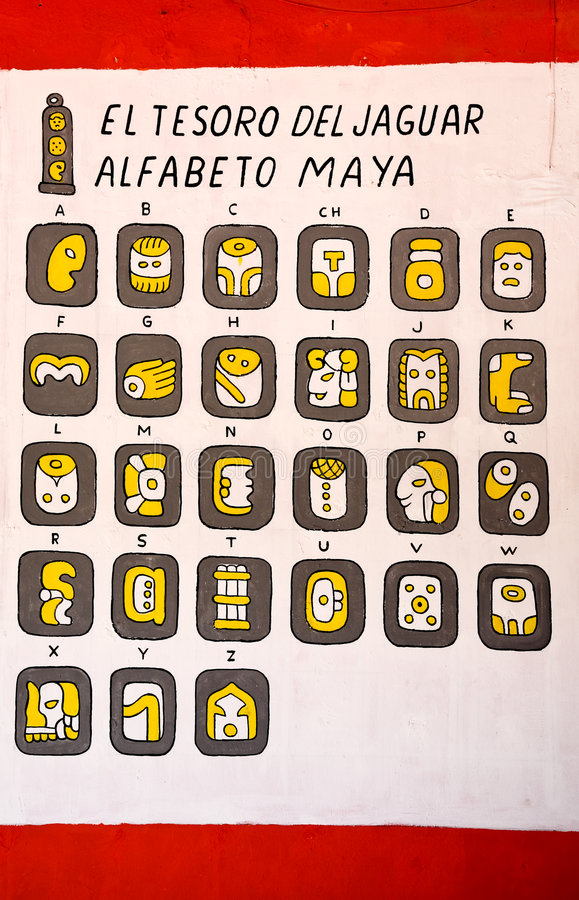 алфавиты майяские стоковое изображение rf