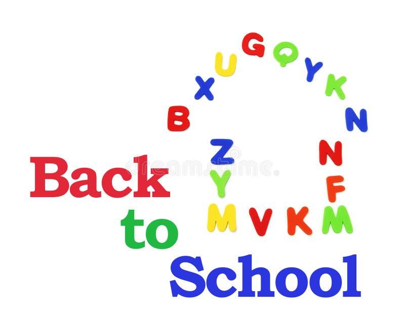 алфавиты подпирают школу к стоковое изображение rf
