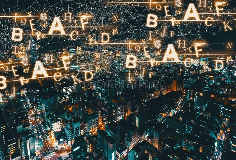 Алфавиты с видом с воздуха токио, Японии стоковая фотография rf