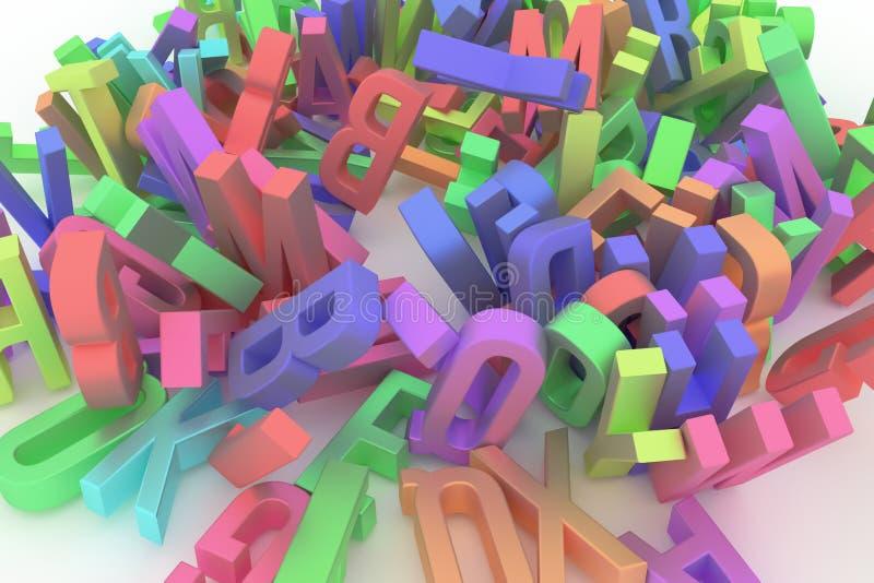 Алфавит, письмо ABC Хороший для интернет-страницы, обоев, графического d бесплатная иллюстрация