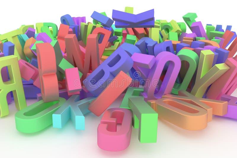 Алфавит, письмо ABC Хороший для интернет-страницы, обоев, графического d иллюстрация штока