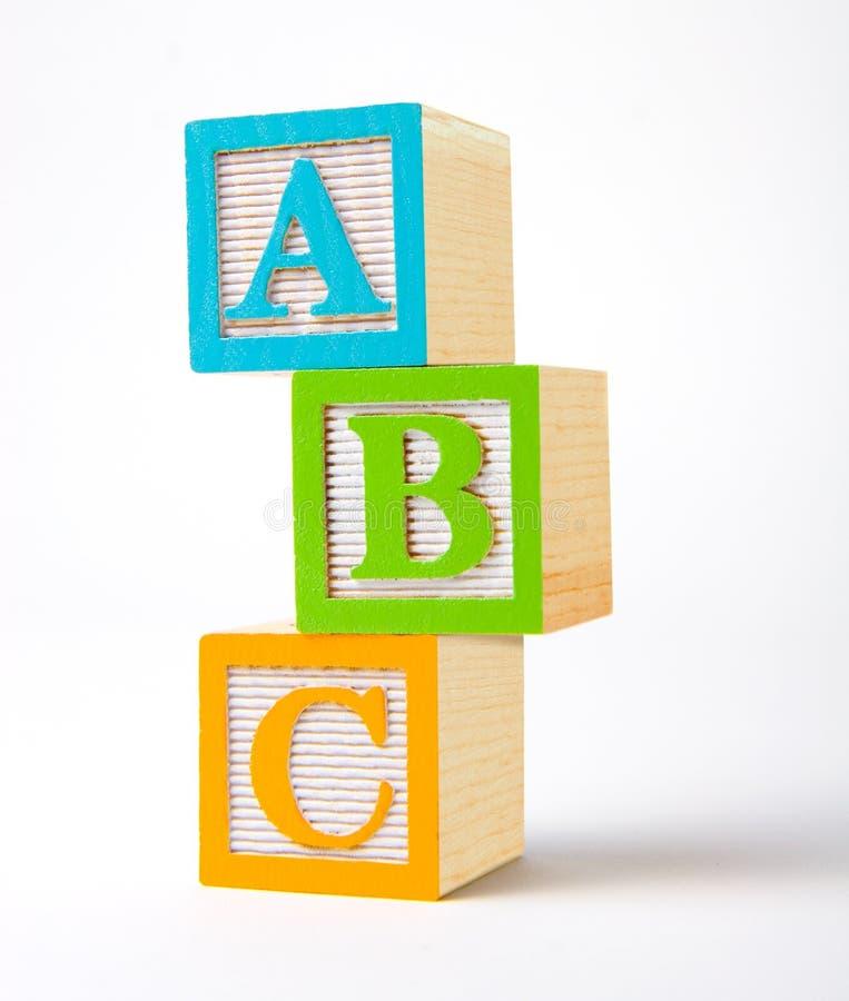 алфавит преграждает деревянное стоковая фотография