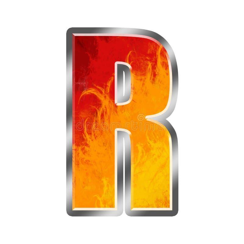Download алфавит пылает письмо r иллюстрация штока. иллюстрации насчитывающей цветисто - 6853868
