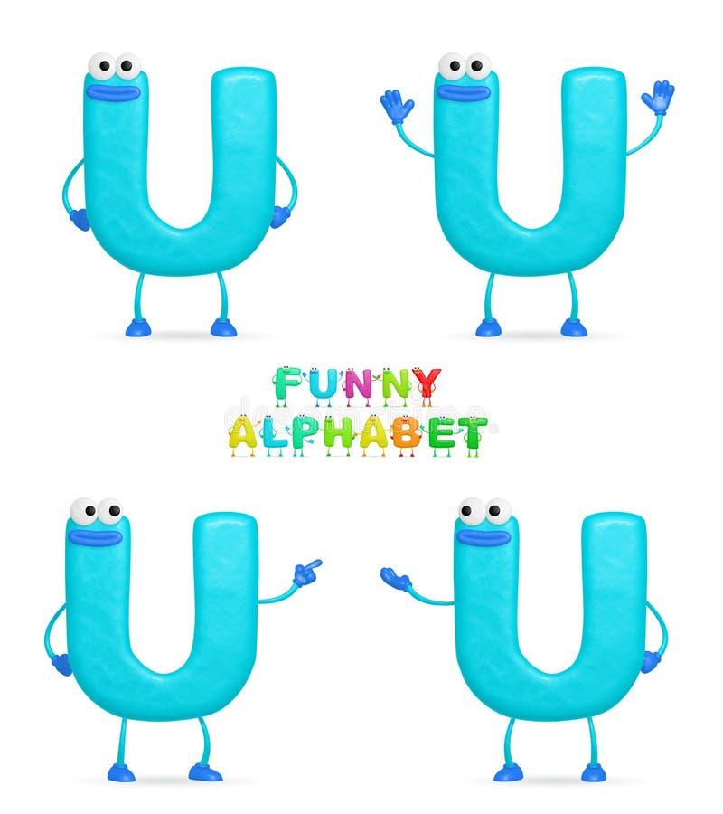 алфавит смешной иллюстрация штока