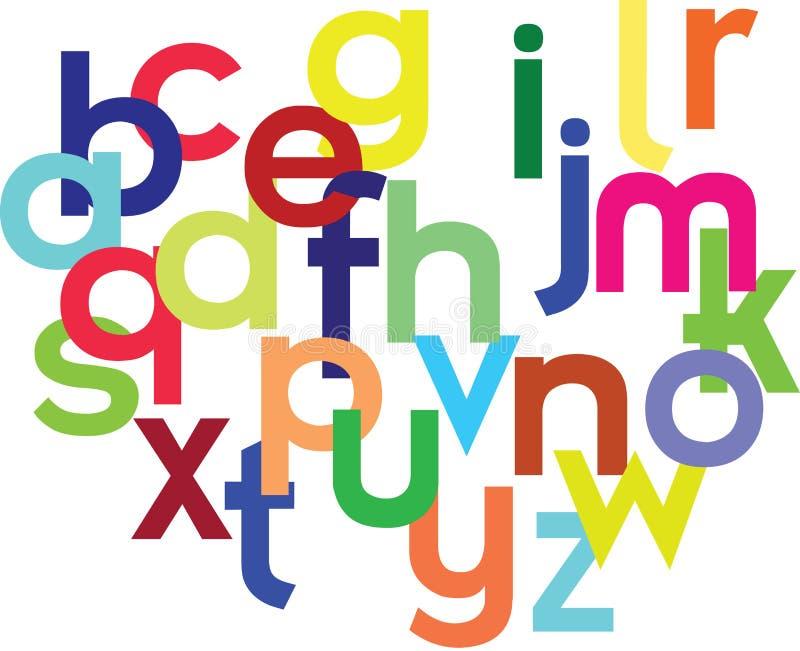 алфавит цветастый бесплатная иллюстрация