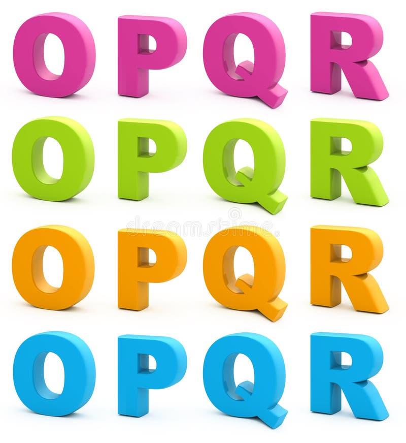 алфавит 3d иллюстрация штока