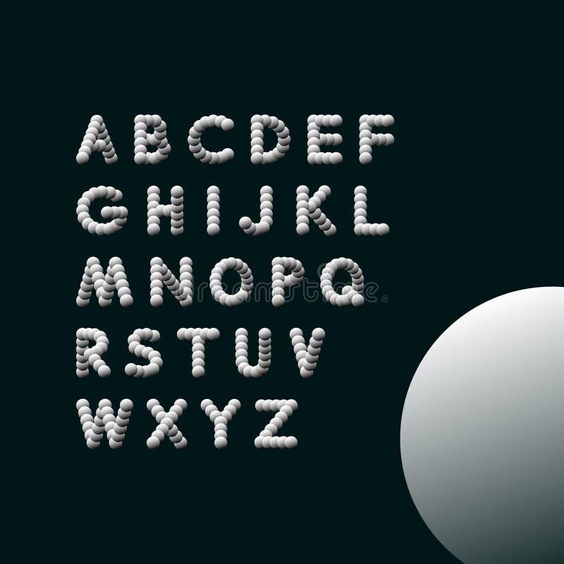 алфавит abc помечает буквами механически расписание комплекта вектор иллюстрации 3d элементы конструкции предпосылки 4 снежинки б иллюстрация вектора