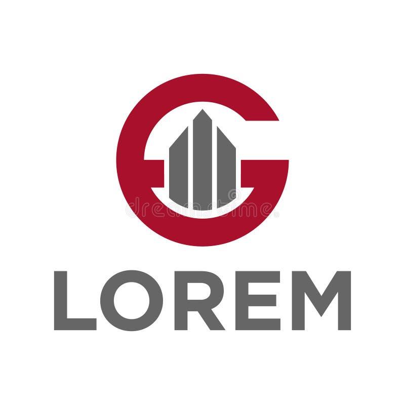 алфавит g иллюстрации вектора и строя дизайн логотипа значка иллюстрация штока