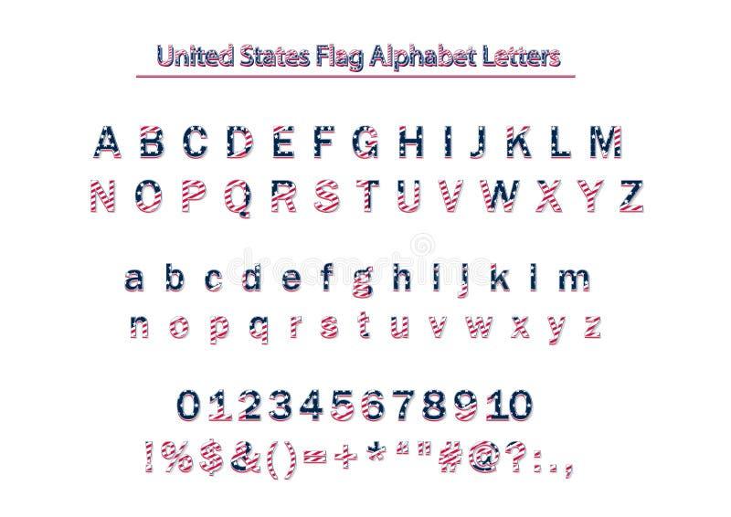 Алфавит Letters_vol_3 вектора флага США Америки патриотический бесплатная иллюстрация