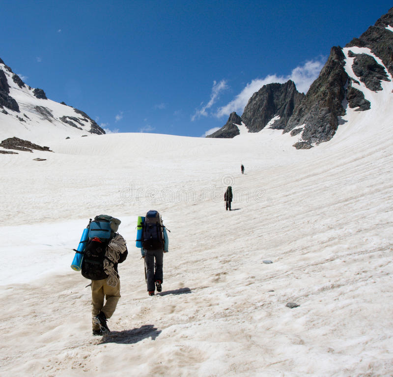 альпинисты группы стоковая фотография