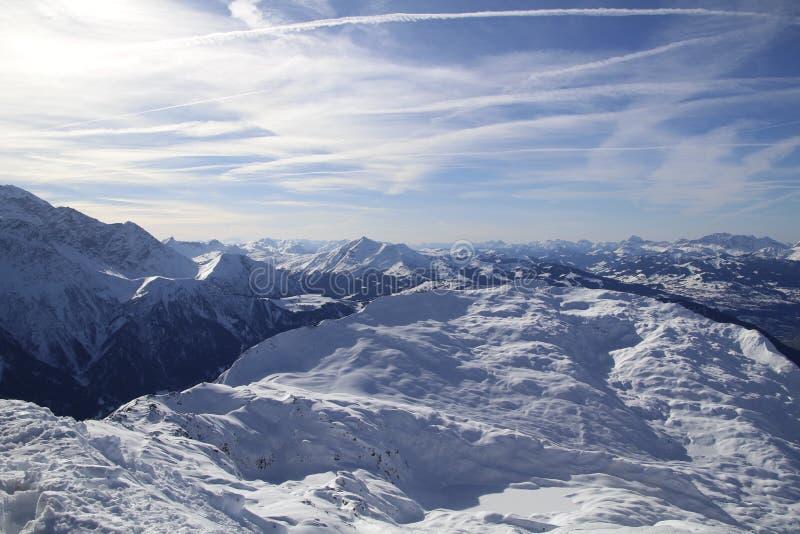 Альпы в солнце стоковое изображение rf