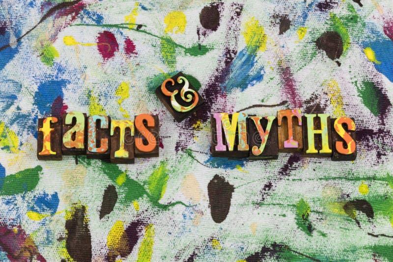 Альтернатива данным по мифов фактов стоковые фото